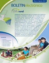 Boletín Electrónico PYMERURAL - Mayo a Agosto 2010