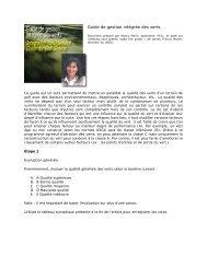 Guide de gestion intégrée des verts