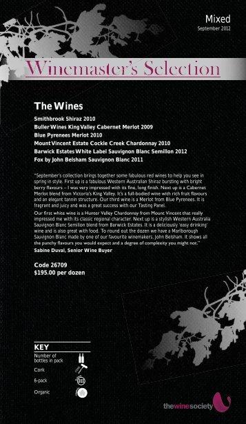 Winemaster's Selection September 2012 - Mixed - The Wine Society