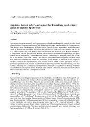 Explizites Lernen beim Game Based Learning - Universität Duisburg ...