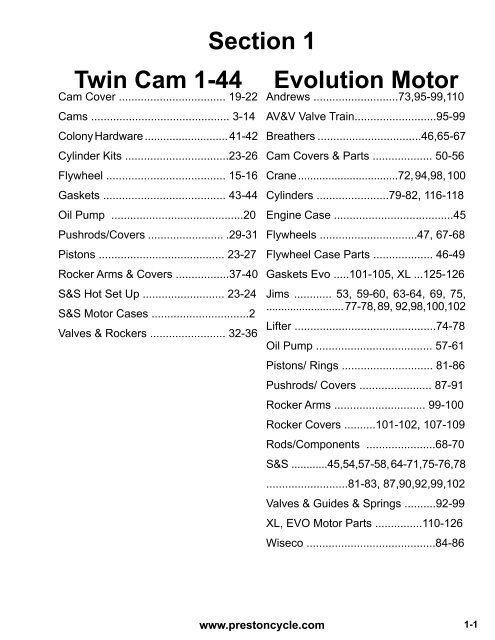 100 revtech coil wiring diagram section 1 twin cam 1 44 evolution motor prestoncycle  section 1 twin cam 1 44 evolution motor