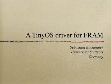 A TinyOS driver for FRAM