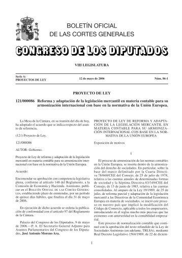 BOLETÍN OFICIAL DE LAS CORTES GENERALES - Aeca