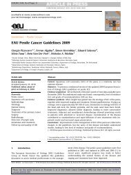 EAU Penile Cancer Guidelines 2009 - European Association of ...