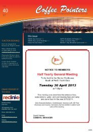Tuesday 23 April - South of Perth Yacht Club