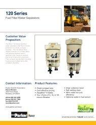 120 Series Fuel Filter/Water Separators - Bolland Machine