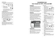 SCANPROX 934 User Guide for 9751, 9752 and ... - Cooper Security