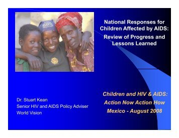 National Responses for Children Affected by AIDS: Review of ...