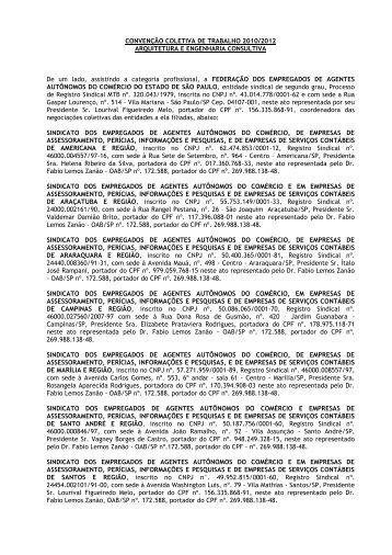 CONVENÇÃO COLETIVA DE TRABALHO 2008/2009 - Sinaenco