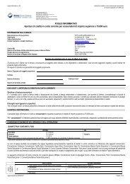 FOGLIO INFORMATIVO Apertura di credito in conto corrente per ...