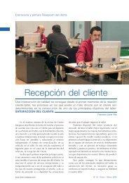 Recepción del cliente - Centro Zaragoza