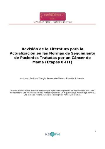 INFORME FINAL CONSENSO 2009 Revisión de la Literatura para ...