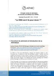 Le DNS est-il là pour durer ? - Afnic