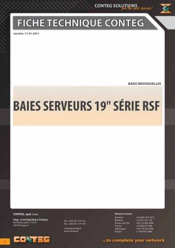 """fiche technique conteg baies serveurs 19"""" série rsf"""