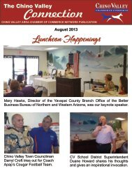 August Newsletter - Chino Valley Area Chamber of Commerce
