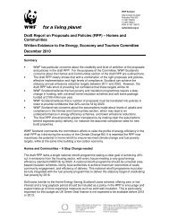 Draft Report on Proposals and Policies (RPP) – Homes ... - WWF UK