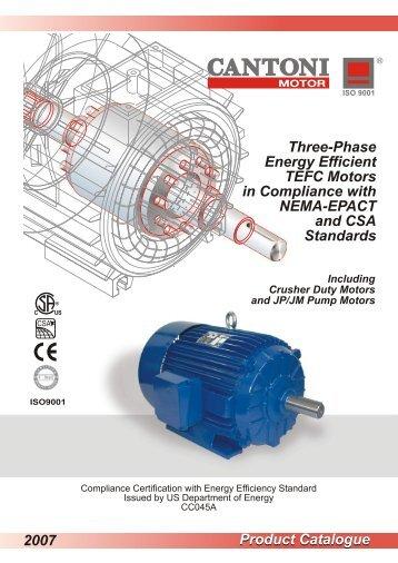 Product Catalogue 2007 Three-Phase Energy ... - Cantoni Group
