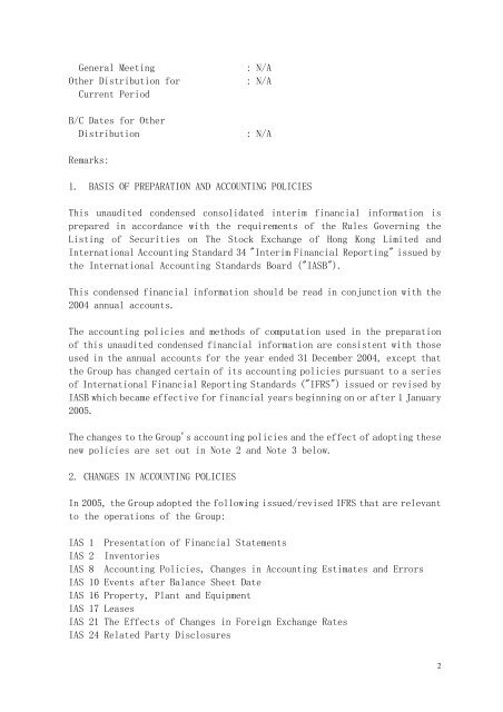 Results Announcement - Li Ning