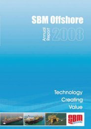 2008 Annual Report - SBM Offshore