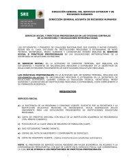 SERVICIO SOCIAL - Secretaría de Relaciones Exteriores