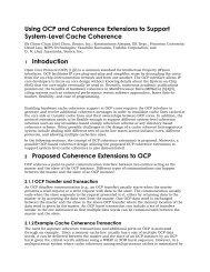 OCP Cache Coherence - OCP-IP