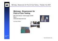 Mehrweg - Biosensoren für Point of Care Testing - DiagnostikNet | BB