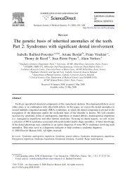 The genetic basis of inherited anomalies of the ... - ResearchGate