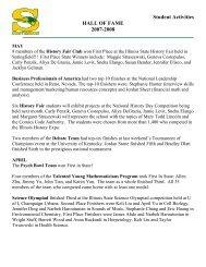 HALL OF FAME 2007-2008 - Adlai E. Stevenson High School