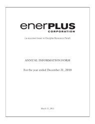 Annual Information Form - Enerplus