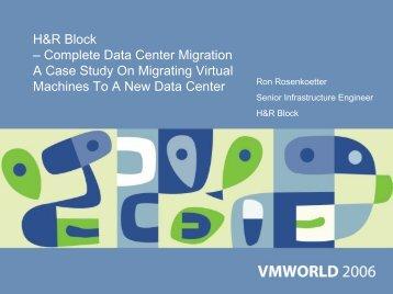H&R Block – Complete Data Center Migration - VMware