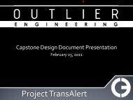 Capstone Design Presentation - Texas A&M University