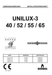 Gebruiksaanwijzing Unilux 3 40 - 52 - UwKachel