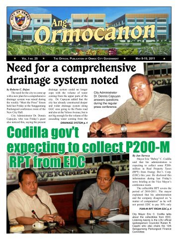 Codilla gov't expecting to collect P200-M RPT from EDC - City ...