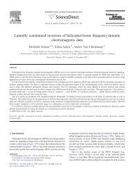 Laterally constrained inversion of helicopter-borne frequency ...
