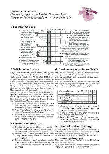 Aufgaben - Chemie - die stimmt!