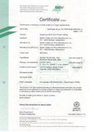 EN50200 Product Certificate BETAflam ® NHXH, NHXCH - LEONI ...