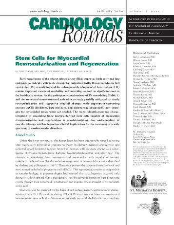 Stem Cells for Myocardial Revascularization and Regeneration