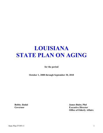 louisiana state plan on aging - National Association of States United ...