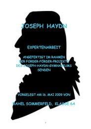 """Joseph Haydn"" Expertenarbeit von Rahel Sommerfeld - eLSA"
