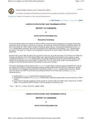 Page 1 of 8 Report to Congress on Inter Partes Reexamination 5/3 ...