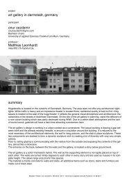 Alte Konzepte [Layouttitel] - Graduate Architecture