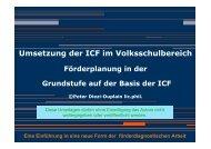 Umsetzung der ICF im Volksschulbereich - VAF.ch