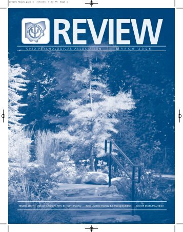 The OP Review March 2006 - Ohio Psychological Association