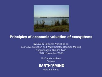 Principles of economic valuation of ecosystems - Earthmind