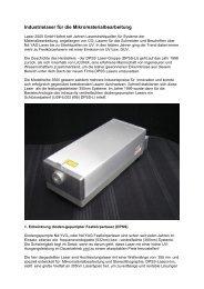 Industrielaser für die Mikromaterialbearbeitung - Laser 2000