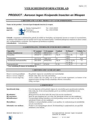 Aeroxon tegen kruipende insecten en wespen _19-06 ... - Rentokil