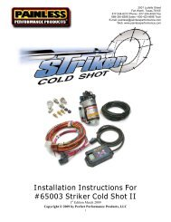 Installation Instructions For #65003 Striker Cold ... - Painless Wiring