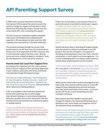 International Parenting Survey – Canada Sample Promotion ...