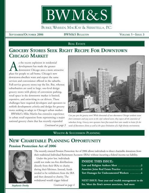 Bulletin Vol 5 Issue 3 Sept Oct - Burke, Warren, MacKay & Serritella ...