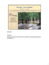Stormwater for Homeowner Associations - Water Resources ...